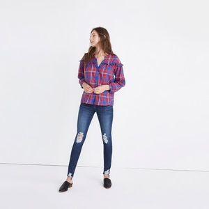 Madewell plaid ruffle shirt